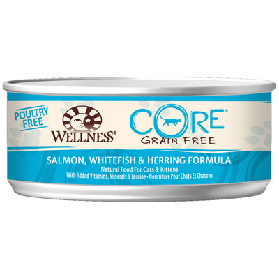 Wellness® Core® Grain Free Salmon, Whitefish & Herring Formula Canned Cat Food 5.5 oz. 908873