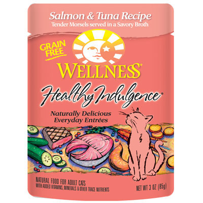 Wellness® Healthy Indulgence® Salmon & Tuna Recipe Cat Food, 3 oz. 908952