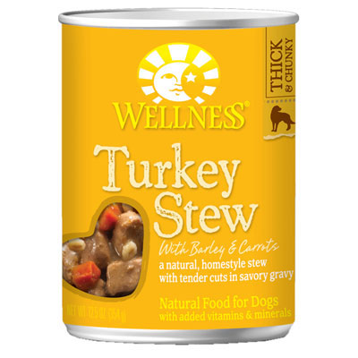 Wellness® Turkey Stew with Barley and Carrots Wet Dog Food 12.5 oz.