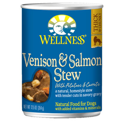Wellness® Venison & Salmon Stew with Potatoes & Carrots Wet Dog Food 12.5 oz. 94016