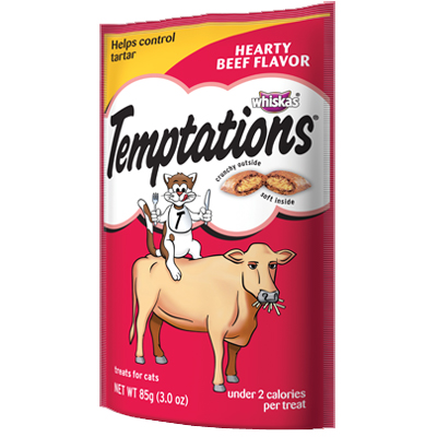 Whiskas® Temptations® Treats for Cats Hearty Beef Flavor 3 oz. 98811