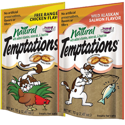 Whiskas® Temptations® Natural Treats for Cats, 2.47 oz. 98818b