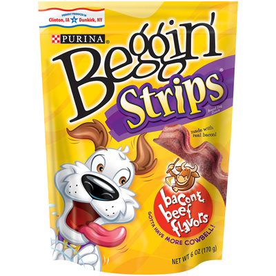 Beggin' Strips™ Treats for Dogs Littles Bacon & Beef  Flavor Strips 6 oz. 99543