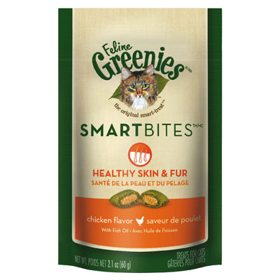 Feline Greenies® SMARTBITES® Skin & Fur Chicken I001320