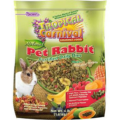 Brown's® Tropical Carnival ® Natural Pet Rabbit Fortified Daily Diet 4 lbs. I001344