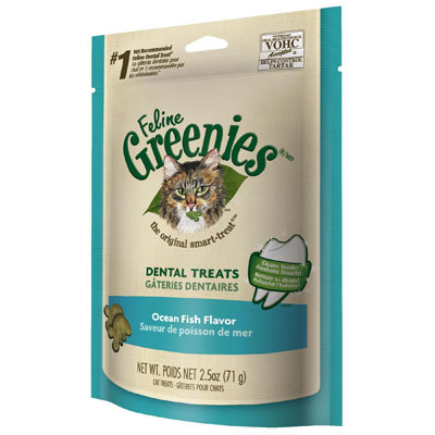 Feline Greenies® Dental Treats Oven Ocean Fish  I001371e
