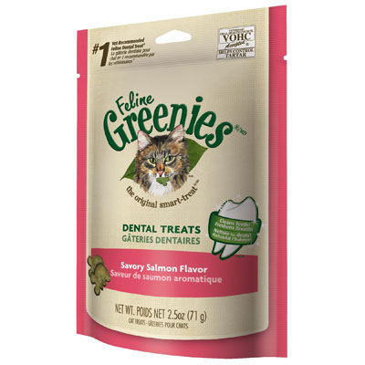 Feline Greenies® Dental Treats Oven Savory Salmon I001372e