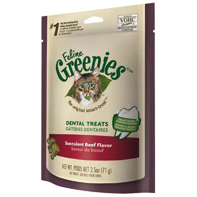 Feline Greenies® Dental Treats Succulent Beef 2.5 oz. I001374