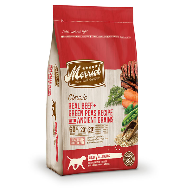 Merrick® Classic Adult All Breed Real Beef with Whole Barley + Carrot Recipe Dog Food 25 lbs. I001455