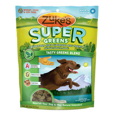 Zuke's Super Dog Treats Tasty Greens 6 oz.  I001528