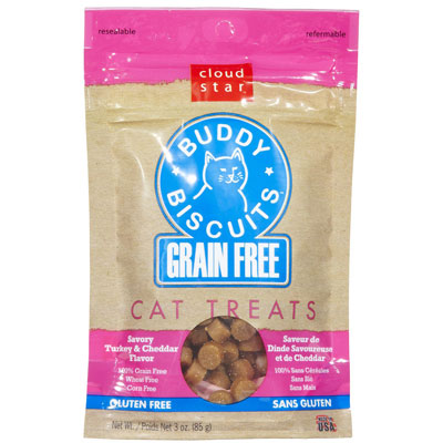 Cloud Star® Grain Free Buddy Biscuits® Savory Turkey & Cheddar 3 oz.  I001607