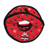 VIP Tuffy® Ultimate 4WayRing Red Paws Dog Toy I001876