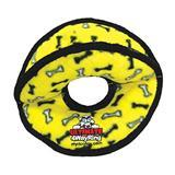 VIP Tuffy® Ultimate 4WayRing Yellow Bones Dog Toy I001877