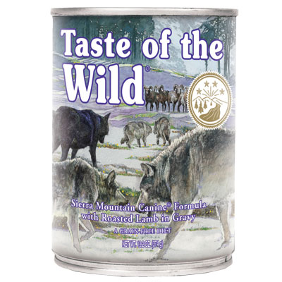 Taste of the Wild® Sierra Mountain Canine Formula with Roasted Lamb in Gravy Wet Dog Food 13.2 oz. I001989