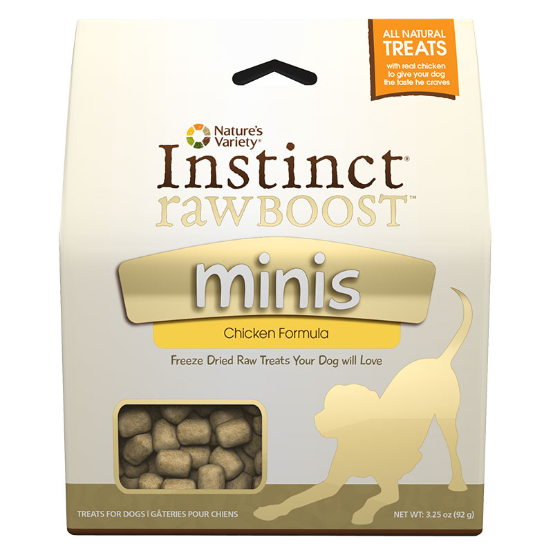 Nature's Variety® Instinct® Raw Boost™ Minis Treats for Dogs Chicken 3.25 oz.  I002055
