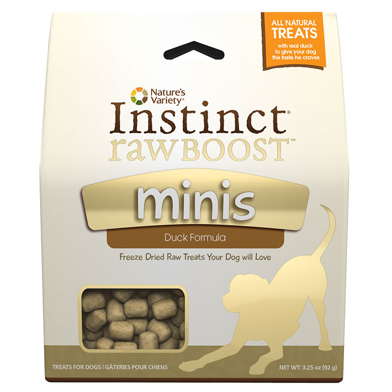 Nature's Variety® Instinct® Raw Boost™ Minis Treats for Dogs Duck 3.25 oz.  I002056