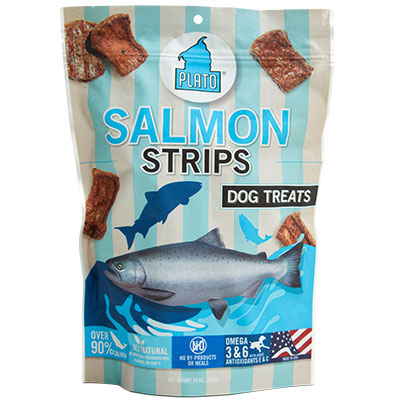 Plato® Original Meat Treats Salmon Strips I002067