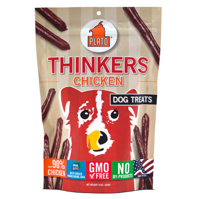 Plato® Thinkers Smart Dog Snacks Resealable Pouch Chicken I002082b