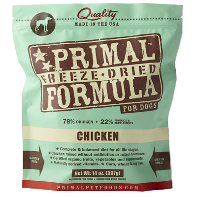 Primal™ Freeze Dried Formula for Dogs Chicken I002829b