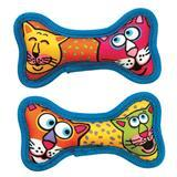 Petmate® Fat Cat Mini Squeaker Bones 2pk Dog Toy I002137