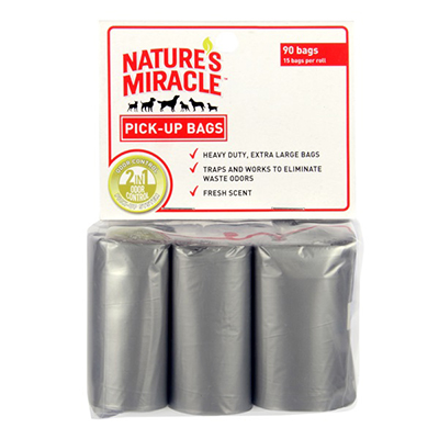 Nature's Miracle® Advanced Pick-Up Bags 6-Roll Refill   I002252