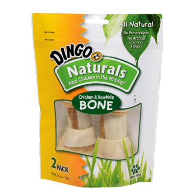 Dingo Naturals Chicken Dog Treats 2pk Small Bones I002350