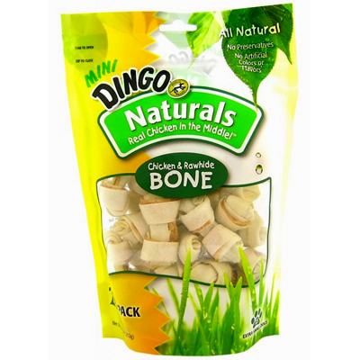Dingo® Naturals Chicken Dog Treats 21 Pack Mini Bones I002351