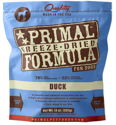 Primal™ Freeze Dried Formula for Dogs Duck I002456b