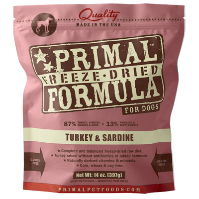 Primal™ Freeze Dried Formula for Dogs Turkey & Sardine I002457b