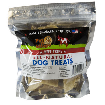 Pet 'N Shape Beef Tripe All-Natural Dog Treats 4 oz. I002761
