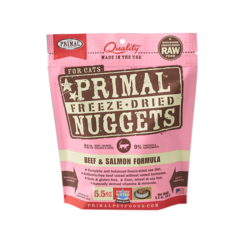 Primal Freeze-Dried Nuggets Beef & Salmon Formula Cat Food  I002834e