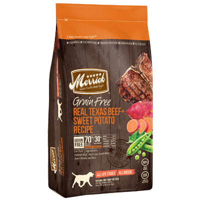 Merrick® Grain free Real Texas Beef & Sweet Potato REcipe Dry Dog Food I002907b