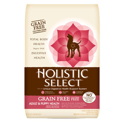 Holistic Select® Grain Free Adult & Puppy Salmon, Anchovy & Sardine Meal Recipe Dog Food I002915b