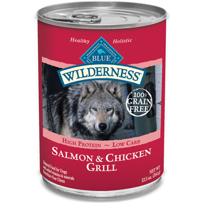 Blue Buffalo BLUE™ Wilderness™ Salmon & Chicken Grill Can Dog Food, 12.5 oz. I003050