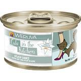WERUVA Cats in the Kitchen Splash Dance - Chicken & Ocean Fish Recipe Au Jus Canned Cat Food 3.2 oz I003055