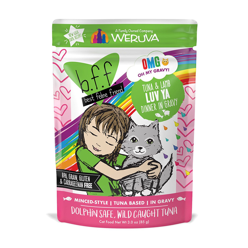 WERUVA b.f.f. Best Feline Friend Tuna & Lamb Luv Ya Recipe in Gravy Pouch 3oz I003079