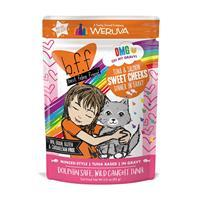 WERUVA b.f.f. Best Feline Friend Tuna & Salmon Sweet Cheeks Recipe in Gravy Pouch 3 oz I003081