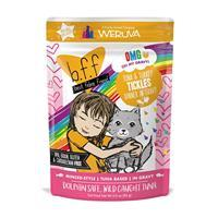 WERUVA b.f.f. Best Feline Friend Tuna & Turkey Tickles Recipe in Gravy Pouch 3 oz I003083