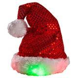 Plush Puppies® LED Santa Holiday Hat for Dogs I003092b