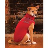 Fashion Pet™ Outdoor Dog Fireside Sweater, Red and Gray I003136b