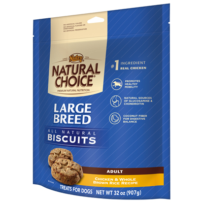 Nutro® Natual Choice® Large Breed Adult Dog Biscuits Chicken & Whole Brown Rice Recipe 32 oz. I003216