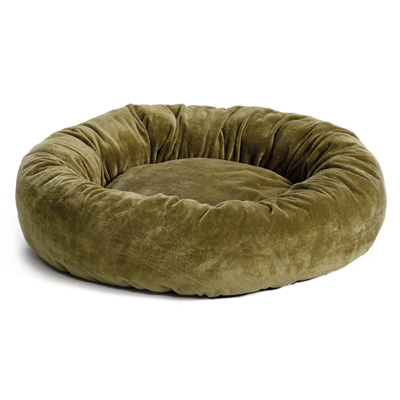 MidWest® Quiet Time™ Deluxe Bagel Bed Sage Fur I003223