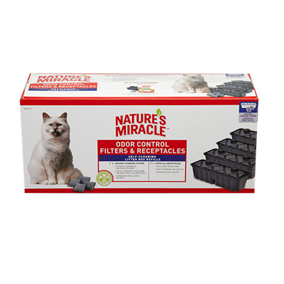 Nature's Miracle Automated Litter Boxes filter & receptacle Combo Pk 4  Each I003344