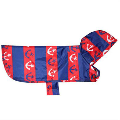 RC Pet Products Packable Pawprint Dog Poncho I003452b