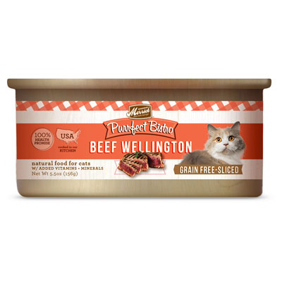 Merrick® Purrfect Bistro Greain Free Beef Wellington Canned Cat Food 5.5 oz. I003457
