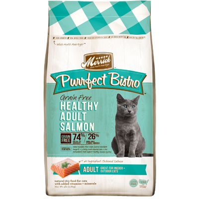 Merrick® Purrfect Bistro Grain Free Healthy Adult Salmon Cat Food 4 lbs. I003466
