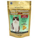 NaturVet® Quiet Moments® Calming Aid Plus Melatonin Soft Chews for Cats, 50 ct. I003503