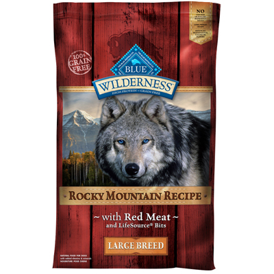 Blue Buffalo BLUE™ Wilderness™ Rocky Mountain Recipe Large Breed Dog Food, 22 lbs. I003565