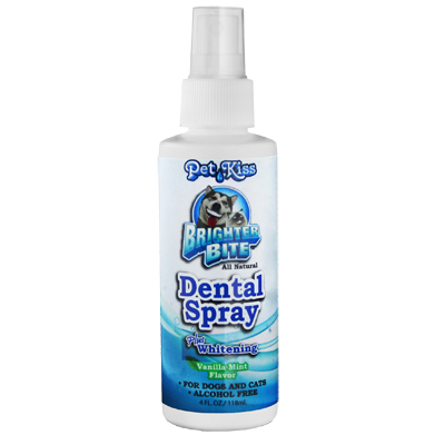 Pet Kiss™ Brighter Bite All Natural Dental Care for Dogs & Cats Dental Spray 4 oz.  I003728
