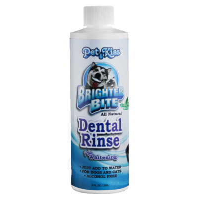Pet Kiss™ Brighter Bite All Natural Dental Care Plaque & Tartar Water Additive I003731b